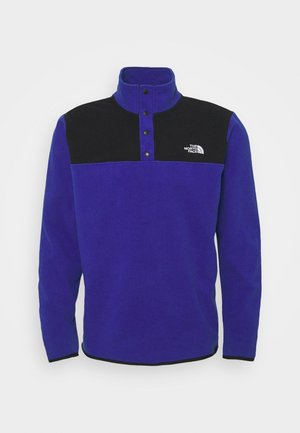 GLACIER SNAP NECK - Fleecepullover - bolt blue/black
