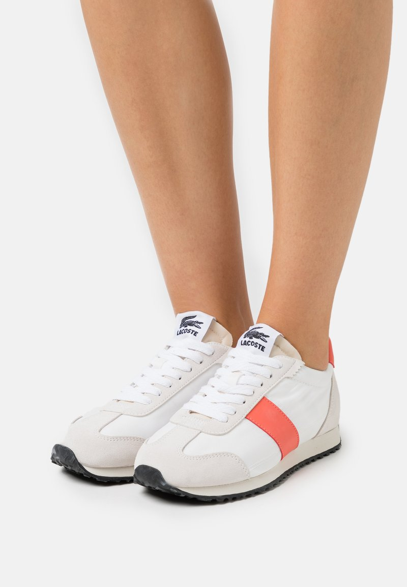 Lacoste - COURT PACE  - Trainers - offwhite/pink