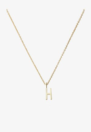 10MM A-Z CHARM WITH 45CM NECKLACE - GOLD - Halsband - gold