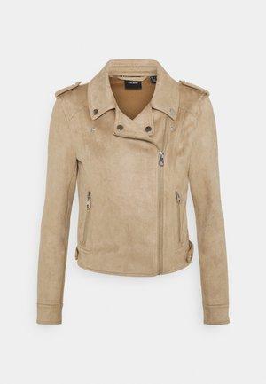 VMBOOSTBIKER - Faux leather jacket - silver mink