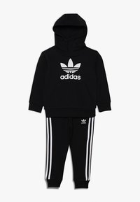 adidas Originals - TREFOIL HOODIE SET - Bluza z kapturem - black/white - 0