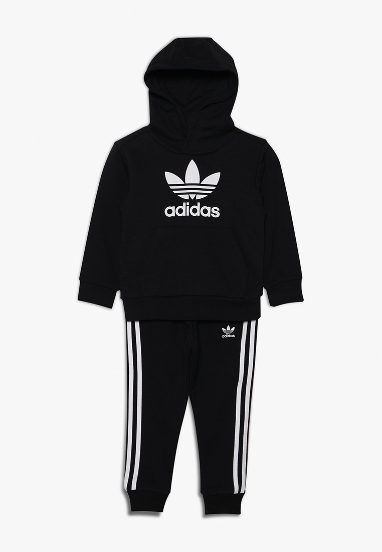 adidas Originals - TREFOIL HOODIE SET - Luvtröja - black/white