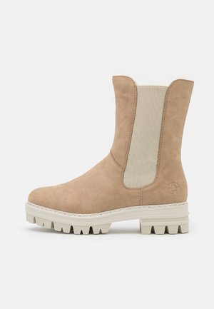 Platform ankle boots - porzellan