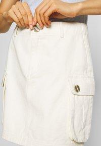 Missguided - POCKET SKIRT - Mini skirts  - ecru - 4