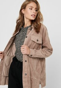 JDY - Button-down blouse - brownie - 4