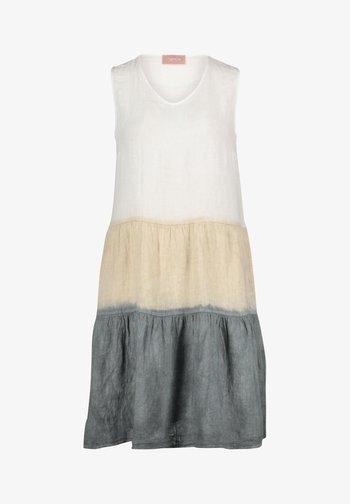 SOMMER OHNE ARM - Day dress - beige/white/grey
