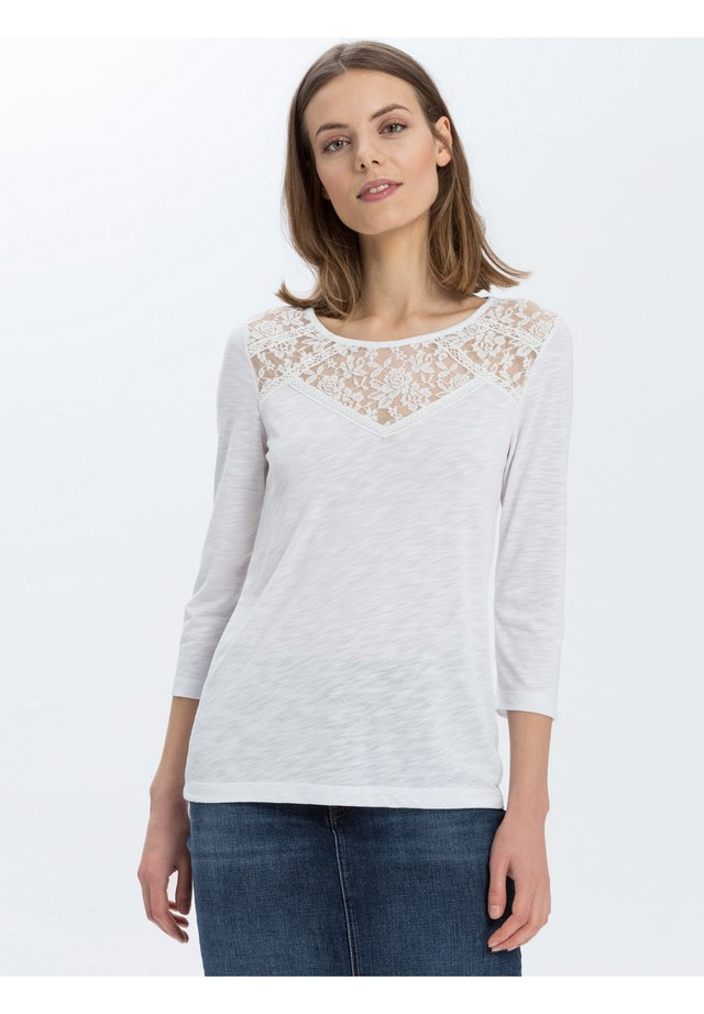 Long sleeved top - ecru