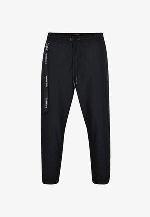 PANEL-PANT NYLON LINED PANT - Tracksuit bottoms - black/white