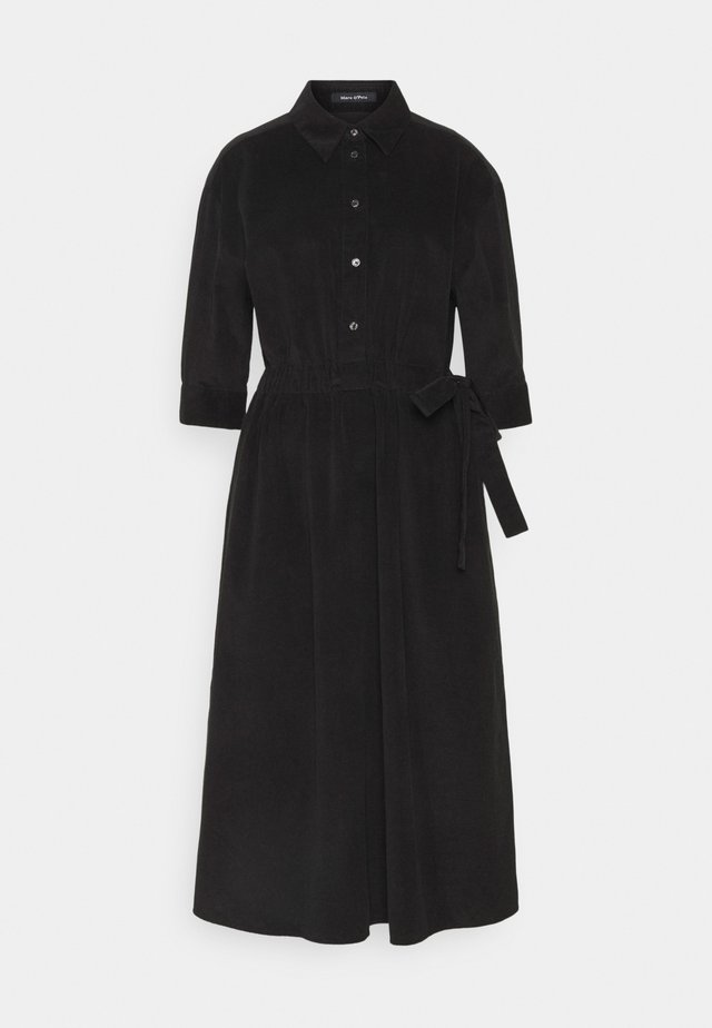 DRESS FEMININ STYLE BELTED WAIST - Shirt dress - black