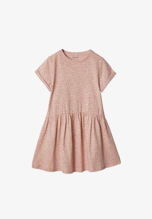Jersey dress - rosa leoprint