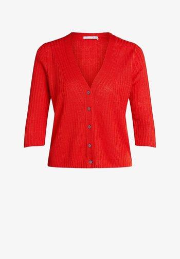 Cardigan - fiery red