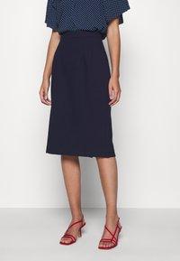 IVY & OAK - PENCIL SKIRT - Pencil skirt - navy blue - 0