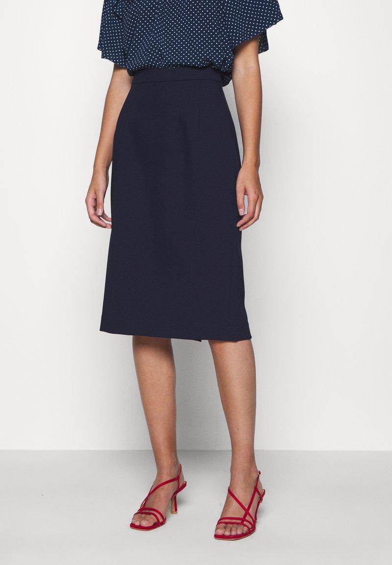 IVY & OAK - PENCIL SKIRT - Pencil skirt - navy blue