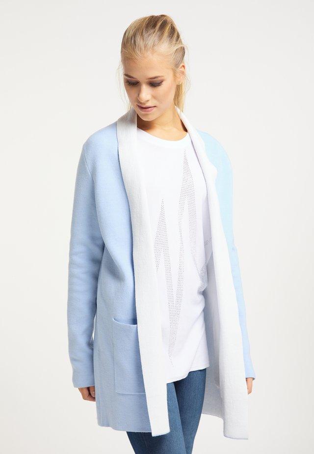 Kardigan - hellblau weiß