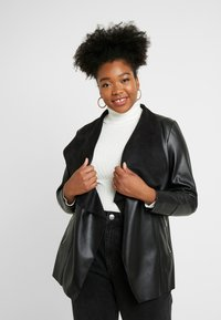 Evans - WATERFALL JACKET - Faux leather jacket - black - 2
