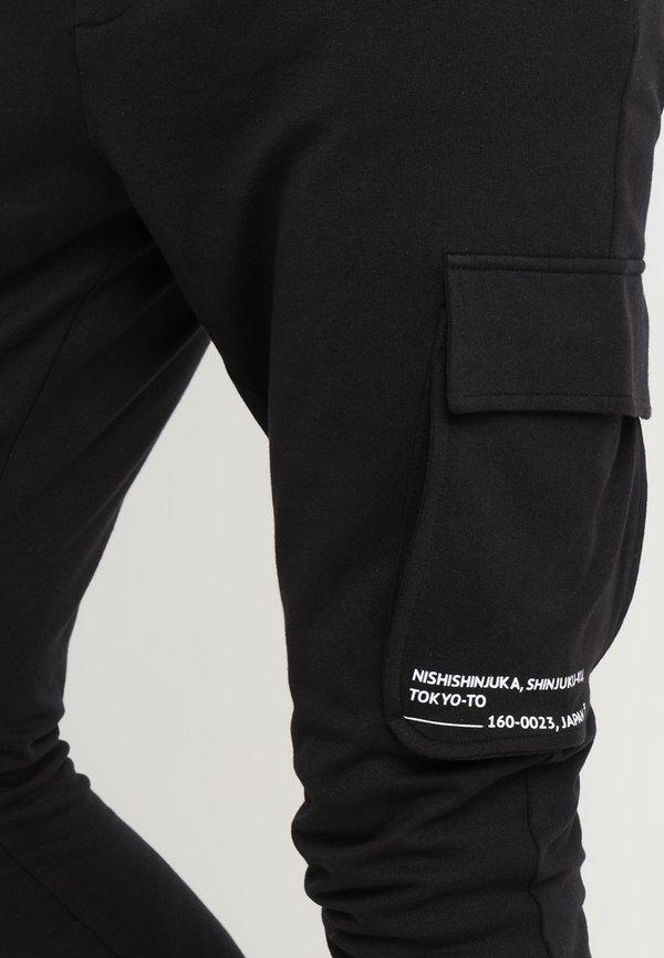 Only & Sons ONSWF KENDRICK - Spodnie treningowe - black/czarny Odzież Męska BVKA