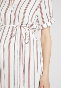 Glamorous Bloom - SHORT SLEEVE MIDI DRESS WITH BELT - Skjortekjole - white - 4