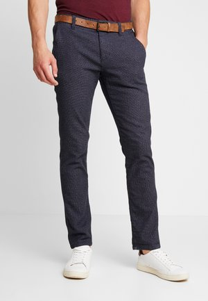 STRUCTURED - Chinos - navy grindel