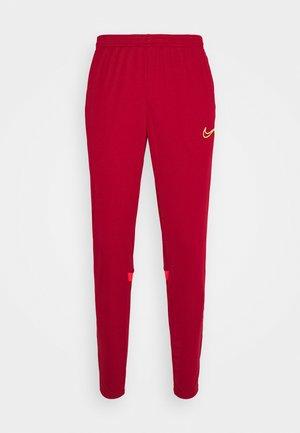 ACADEMY PANT - Teplákové kalhoty - gym red/bright crimson/volt