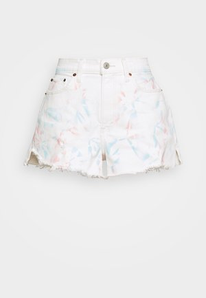 PRIDE CURVE LOVE MOM - Denim shorts - tie dye