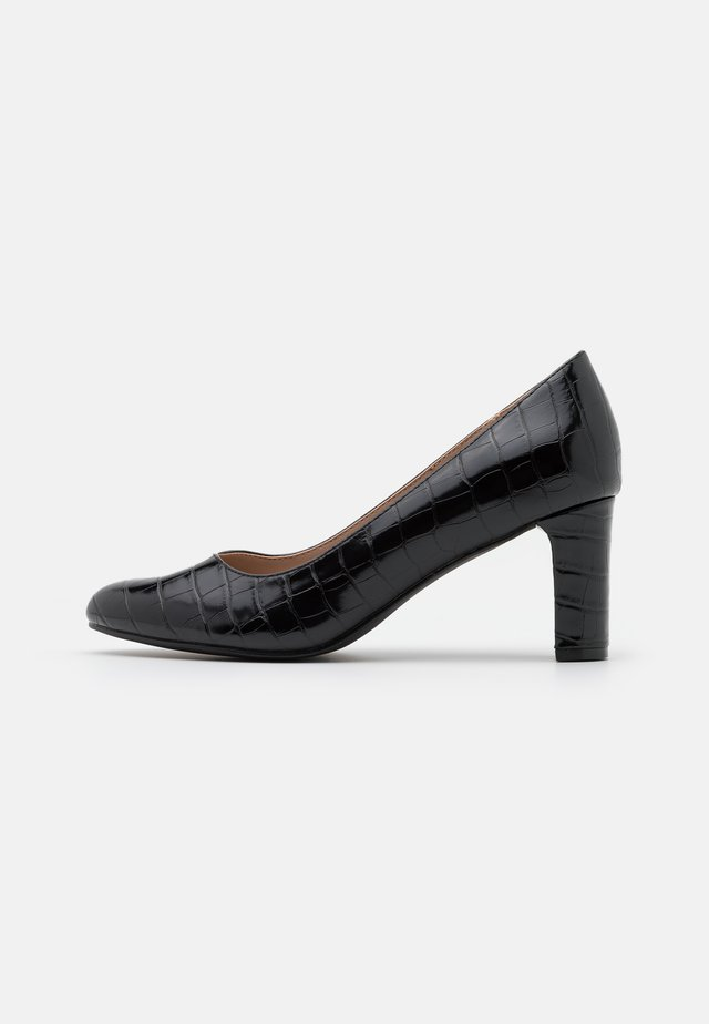 WIDE FIT DENVER ROUND TOE - Classic heels - black