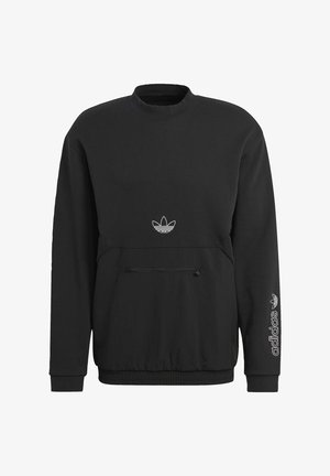 SPRT ARCHIVE MIXED-MATERIAL CREW SWEATSHIRT - Sweatshirt - black