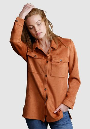 Button-down blouse - haselnuss