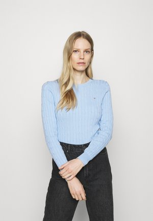 CABLE CREW NECK - Jumper - powder blue