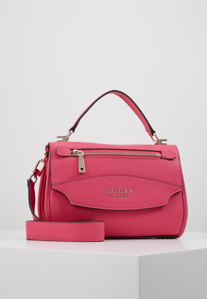 Guess - LIAS TOP HANDLE FLAP - Handbag - pink