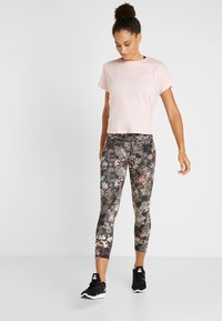 Cotton On Body - DROP SLEEVE TIE BACK - T-shirt print - soft cameo pink marle - 1