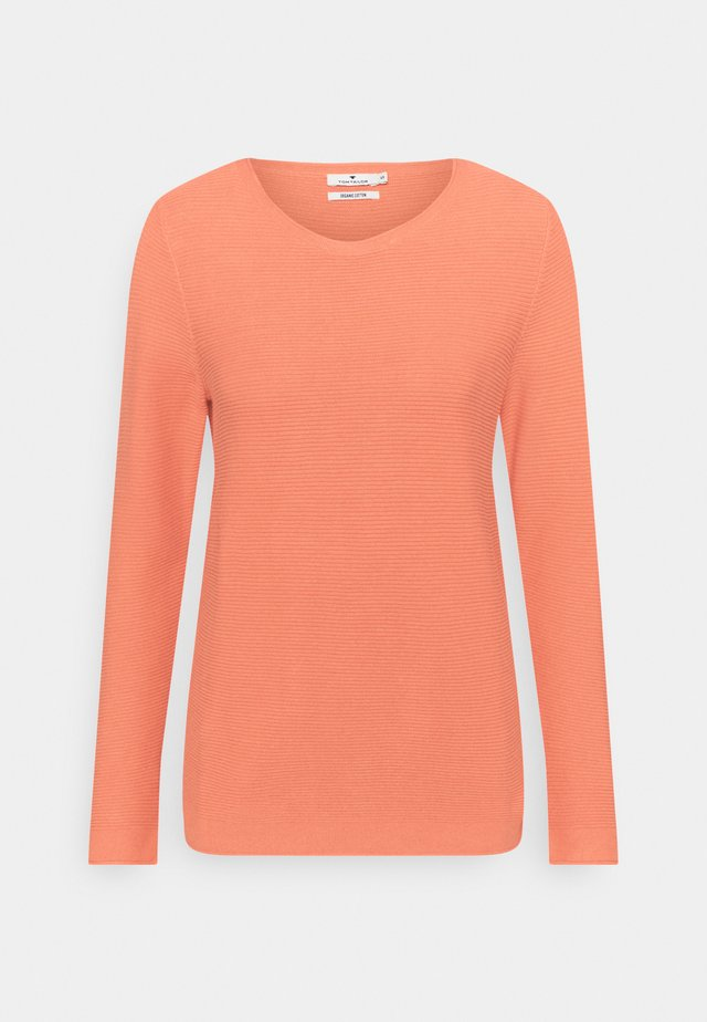 SWEATER NEW OTTOMAN - Sweter - strong peach tone