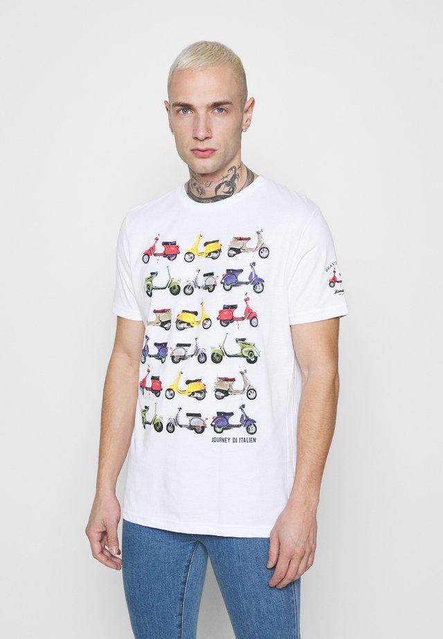 TRAVEL - T-shirt imprimé - white