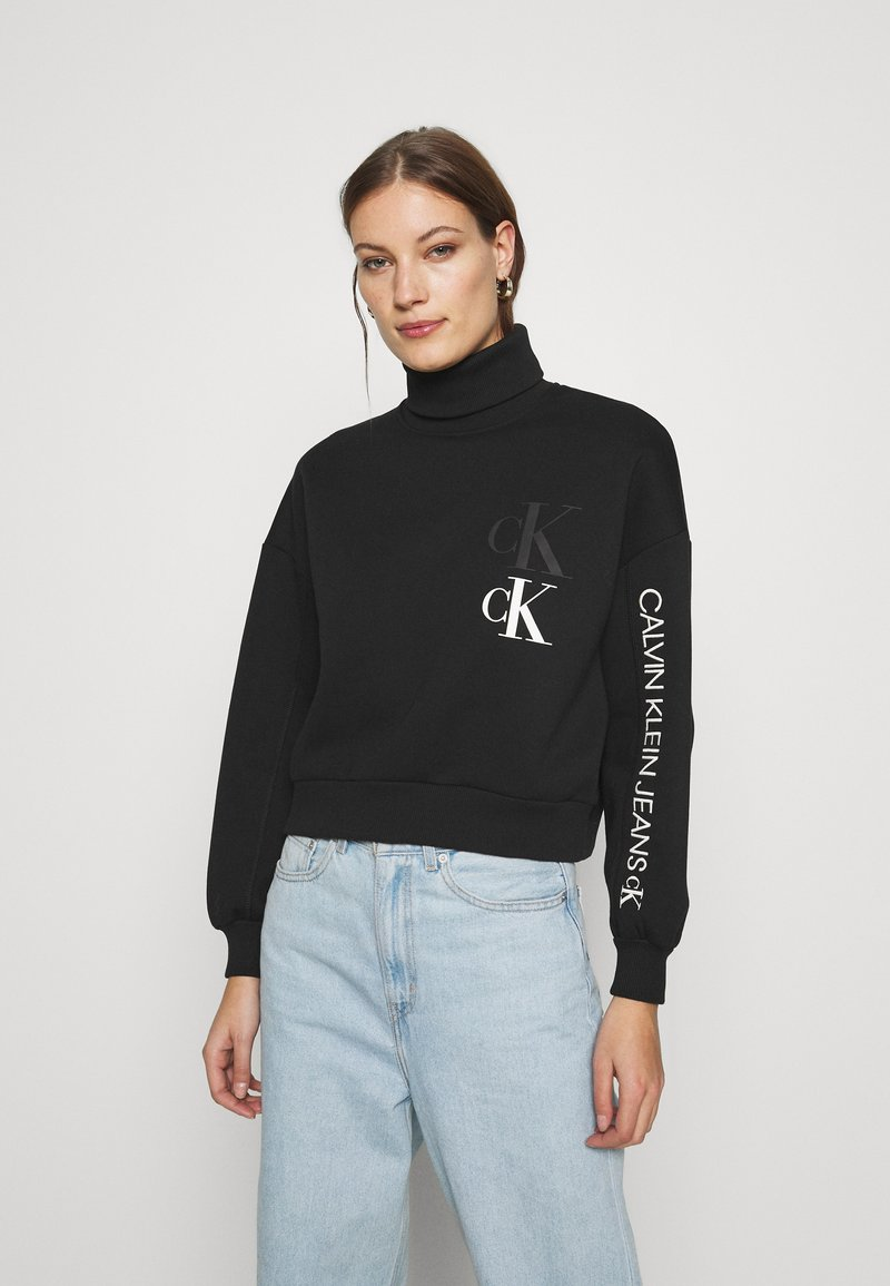 Calvin Klein Jeans - ROLL NECK - Mikina - black