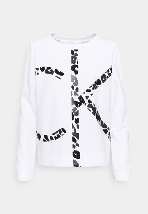 LEOPARD CNECK - Sweatshirt - bright white