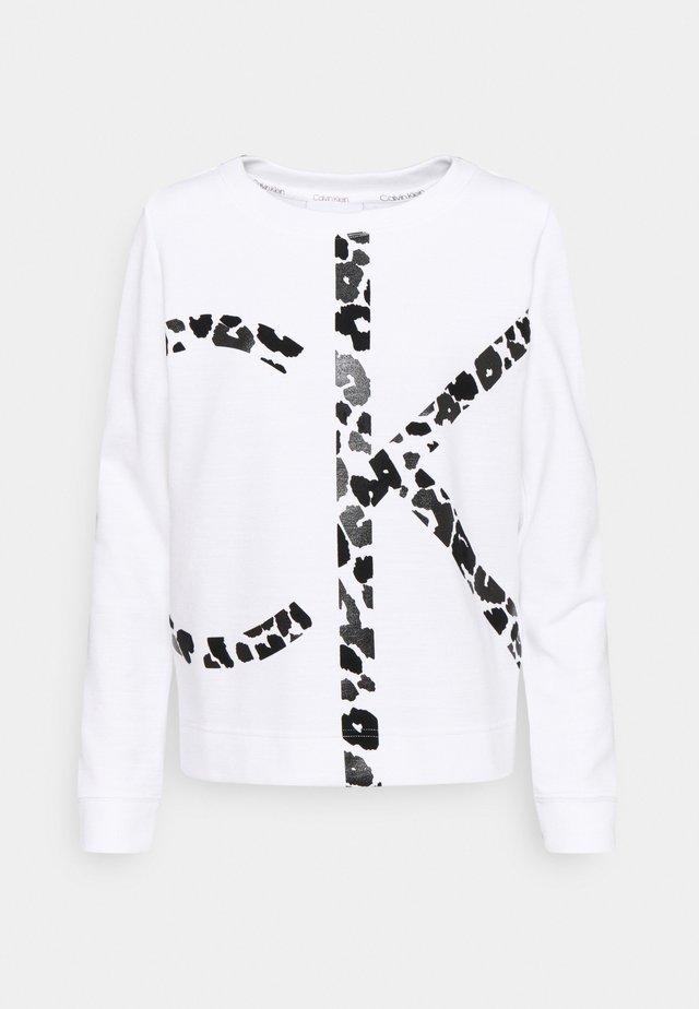 LEOPARD CNECK - Mikina - bright white