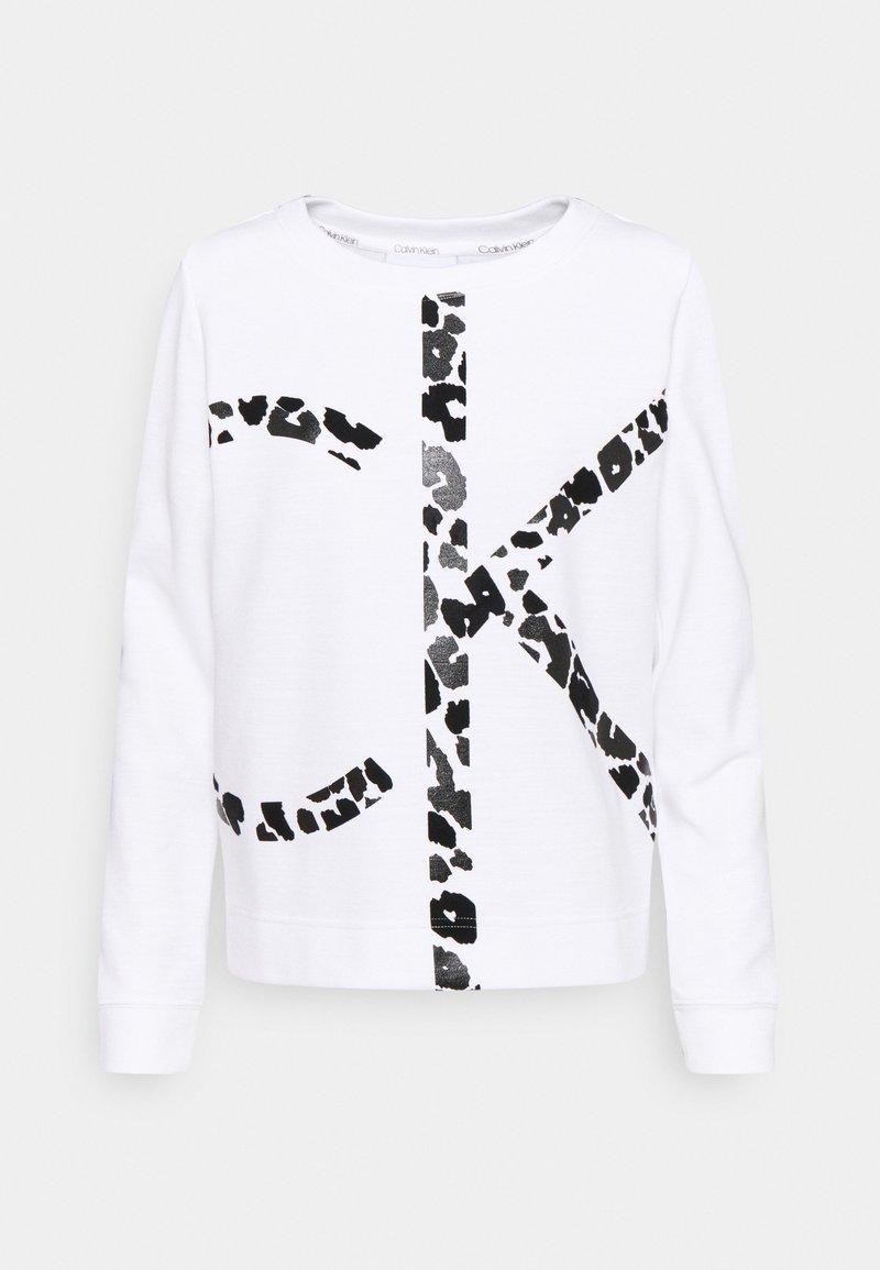 Calvin Klein - LEOPARD CNECK - Sweatshirt - bright white