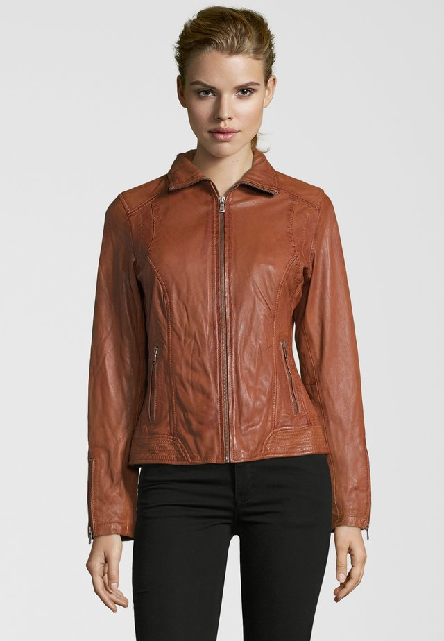 PIA - Leather jacket - cognac