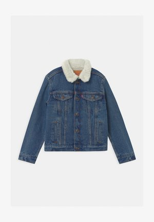 SHERPA TRUCKER - Denim jacket - blue denim