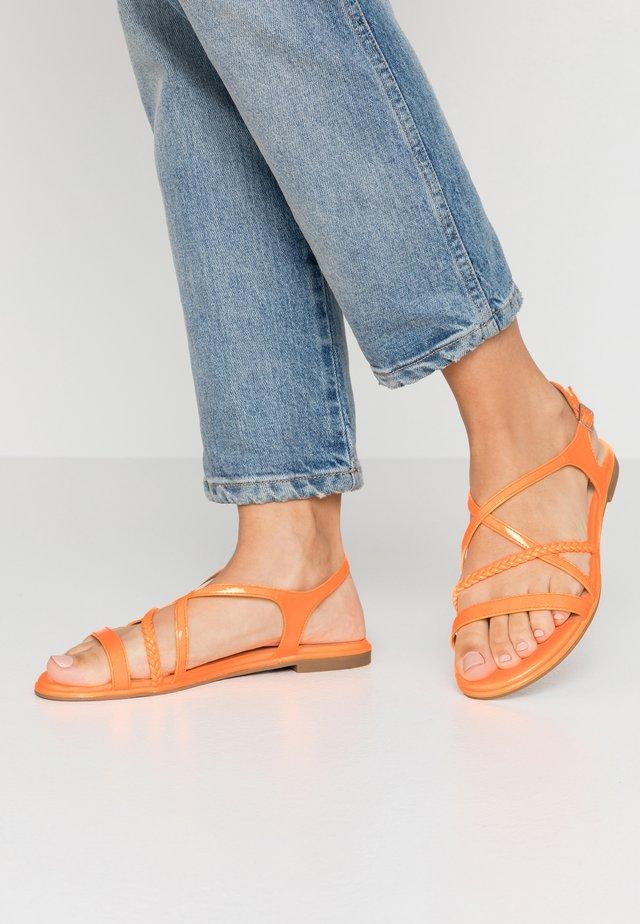 Sandalen - orange neon