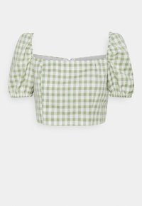Glamorous Petite - TOP WITH PUFF SHORT SLEEVES AND LOW NECKLINE - Blouse - mint - 0