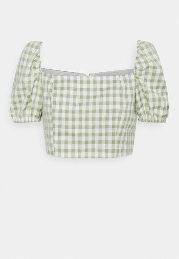 TOP WITH PUFF SHORT SLEEVES AND LOW NECKLINE