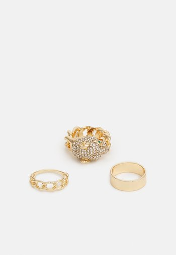 KEDELALLA 3 PACK - Ring - clear/gold-coloured