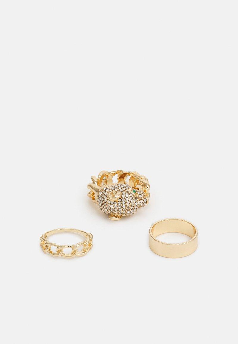 ALDO - KEDELALLA 3 PACK - Ring - clear/gold-coloured