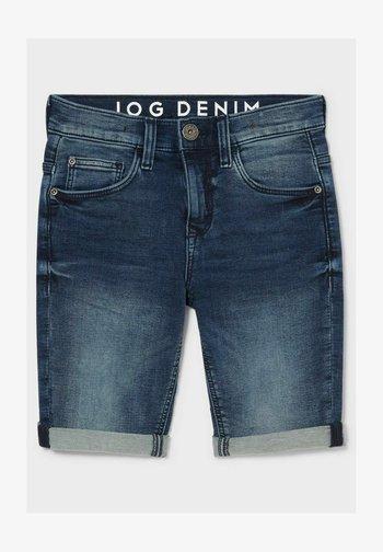 Denim shorts - denimblue