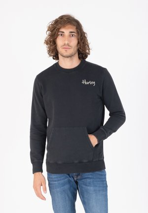 U OCEANCARE WASHED CREW - Sweater - black