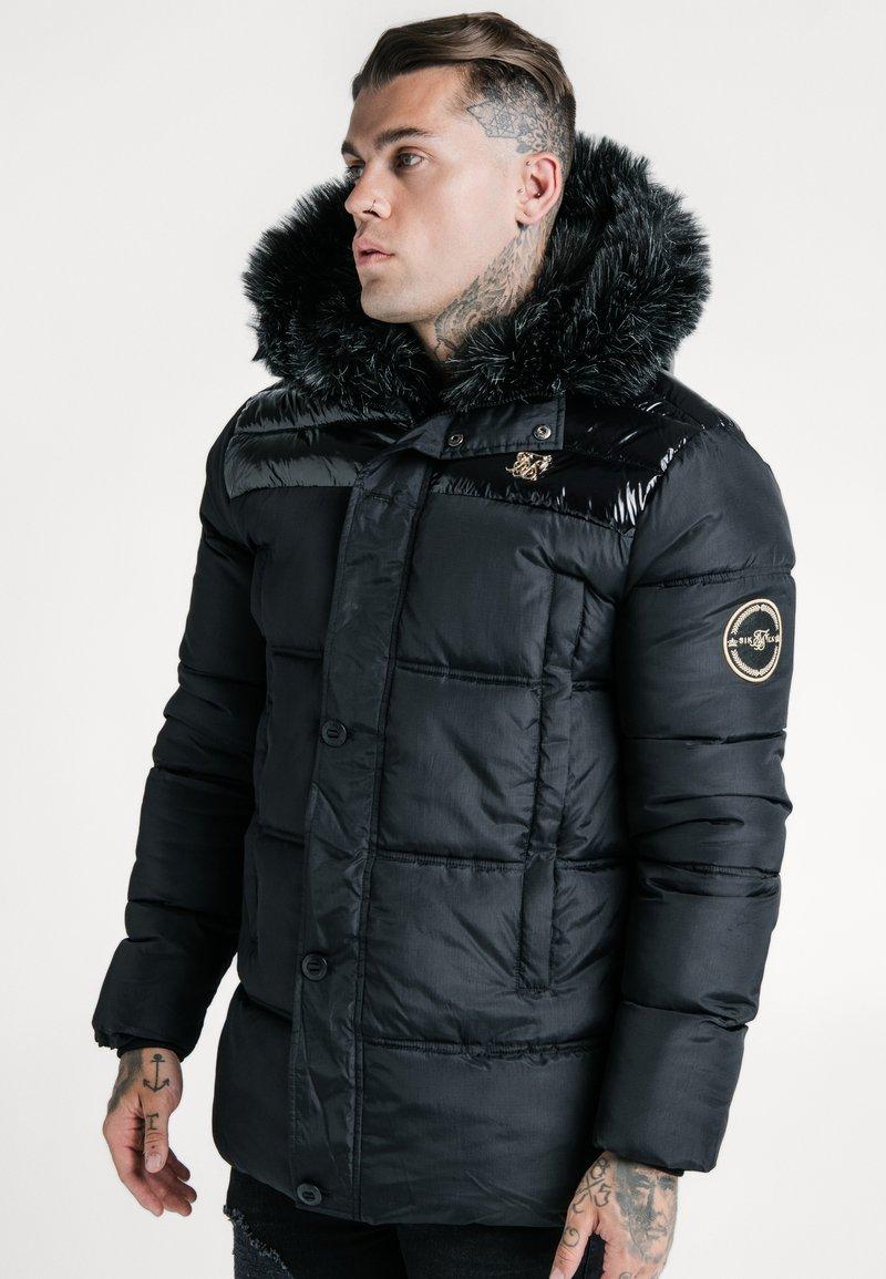 SIKSILK - ELITE PARKA - Zimní bunda - black