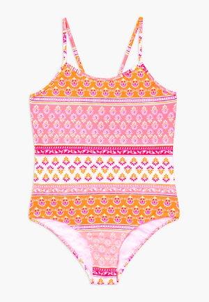 GIRLS BLOCK PRINT - Swimsuit - sherbert pink