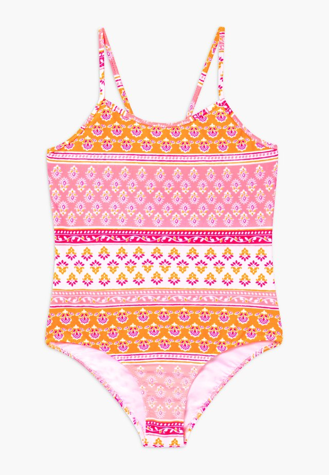 GIRLS BLOCK PRINT - Swimsuit - sherbert pink