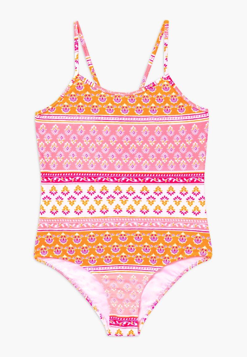 Sunuva - GIRLS BLOCK PRINT - Swimsuit - sherbert pink
