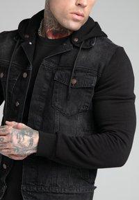 SIKSILK - JACKET - Denim jacket - black - 4